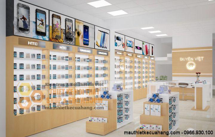 Thiết kế shop phụ kiện điện thoại 60m2 tại Tp Bắc Giang
