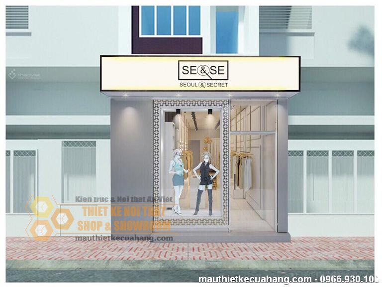 Thiết kế shop quần áo nữ 40m2 Chị Hiền Phố Huế – Hà Nội