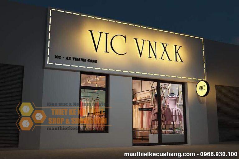 Thiết kế shop thời trang quần áo nữ 35m2 VIC tại Hà Nội