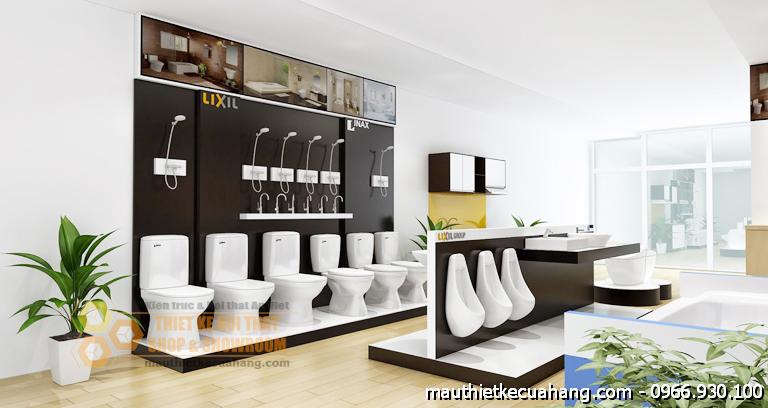 Thiết kế showroom thiết bị vệ sinh 65m2 tại Cần Thơ