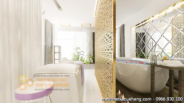 Thiết kế spa 120m2 sang trọng và lôi cuốn Ninh Nguyên tại Hà Nội