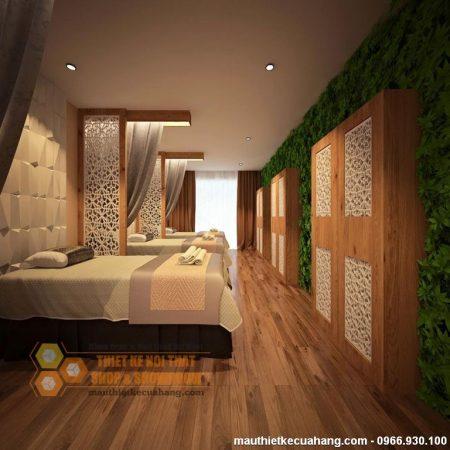 Thiết kế spa đẹp không gian xanh SANG TRỌNG 70m2 tại Hà Nội
