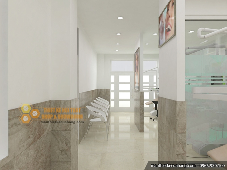 Mẫu nội thất phòng khám nha khoa hiện đại 80m2 tại TPHCM