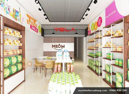 Thiết kế nội thất cửa hàng bánh kẹo 35m2 tại Hà Nội