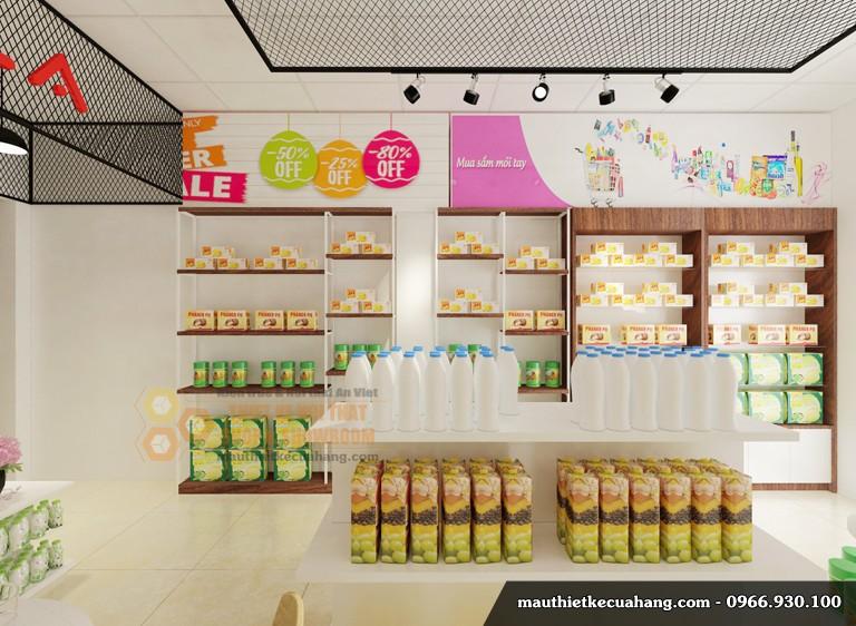 Thiết kế cửa hàng bánh kẹo 35m2 tại Hà Nội