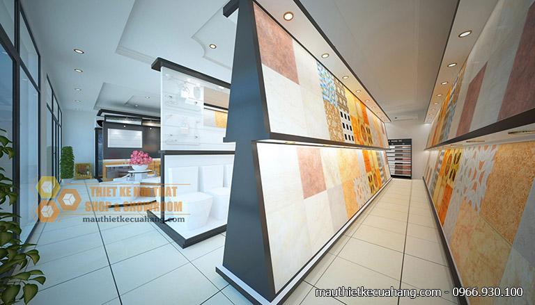 Thiết kế nội thất showroom thiết bị vệ sinh 150m2 tại Lào Cai