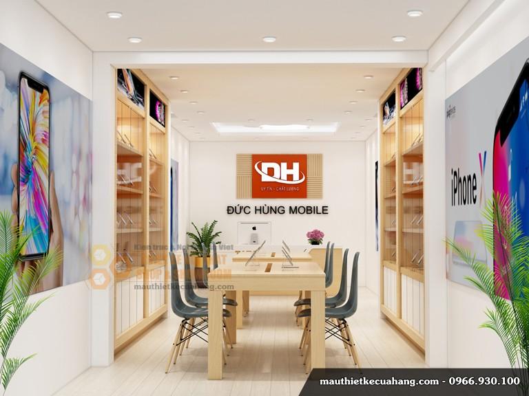 Thiết kế shop điện thoại nhỏ 40m2 tại Linh Đàm Hà Nội