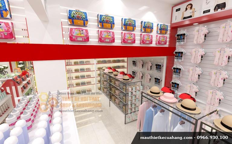 Thiết kế shop quần áo trẻ em hiện đại 150m2 Việt Trì Phú Thọ