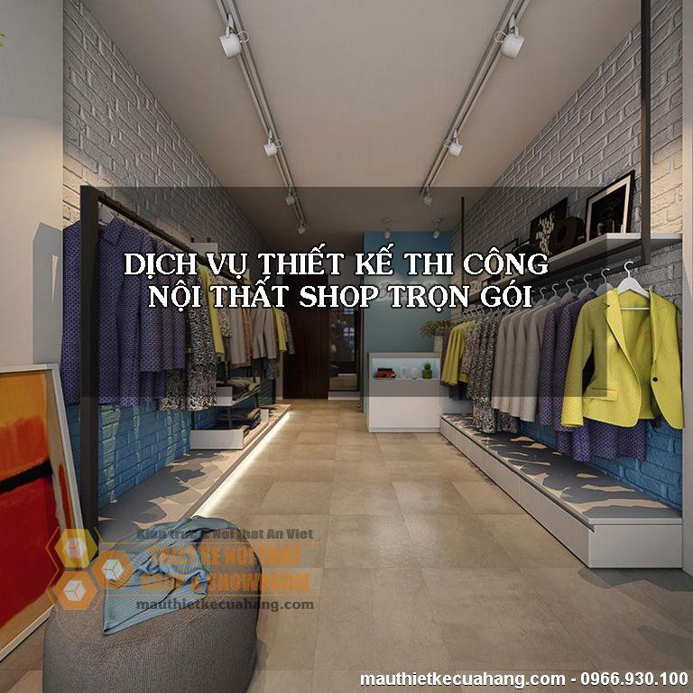 Dịch vụ thiết kế thi công nội thất shop trọn gói tai ha noi