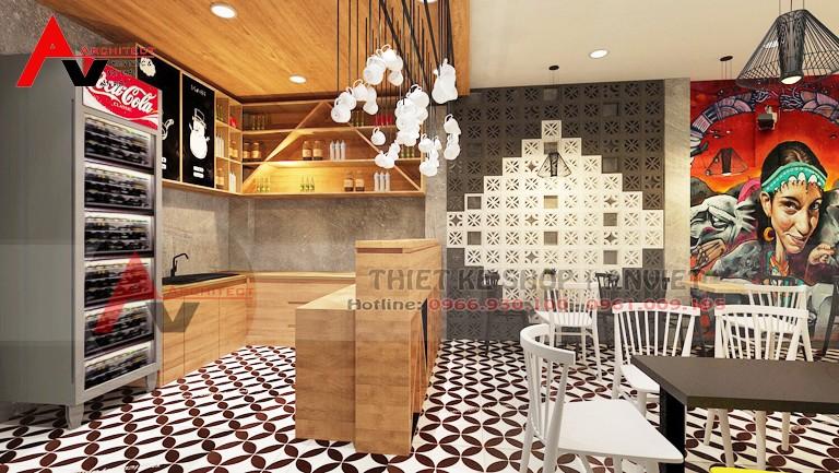 Một cách trang trí nội thất quán cafe đơn giản mà đẹp ở thái nguyên