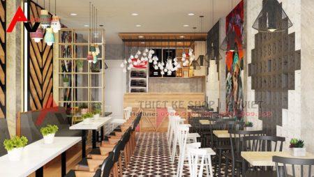 Thiết kế quán cafe nhỏ 55m2 thu hút thực khách ngay từ cái nhìn đầu tiên