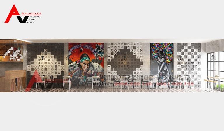 Thiết kế quán cafe nhỏ 55m2 thu hút thực khách