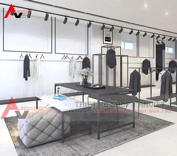 Thiết kế nội thất shop thời trang nam 45m2 LeoVatino