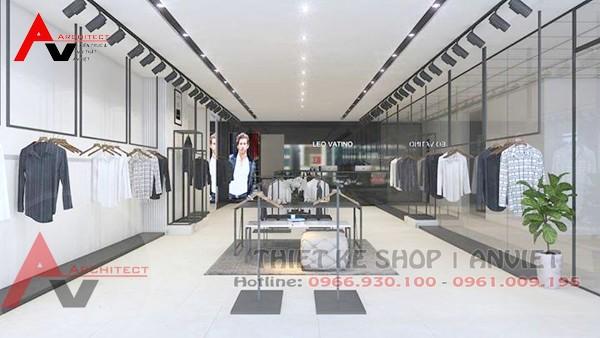 Thiết kế nội thất shop thời trang nam 45m2