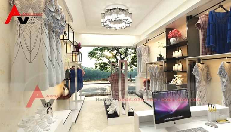 Cách thiết kế shop quần áo nữ đẹp bắt mắt 30m2 tại Hà Nội