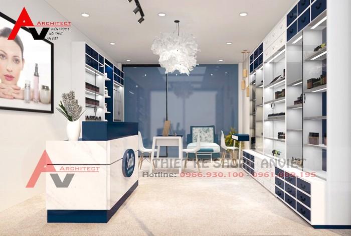 Trang trí nội thất cửa hàng mỹ phẩm 40m2 Bonita tại Hà Nội