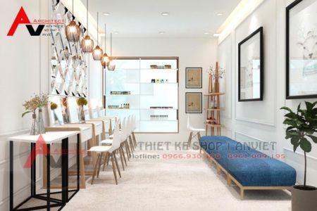 Trang trí nội thất cửa hàng mỹ phẩm 30m2 Bonita tại Hà Nội
