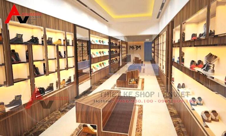 Thiết kế shop thời trang giày dép nhỏ tại Phú Thọ 35m2