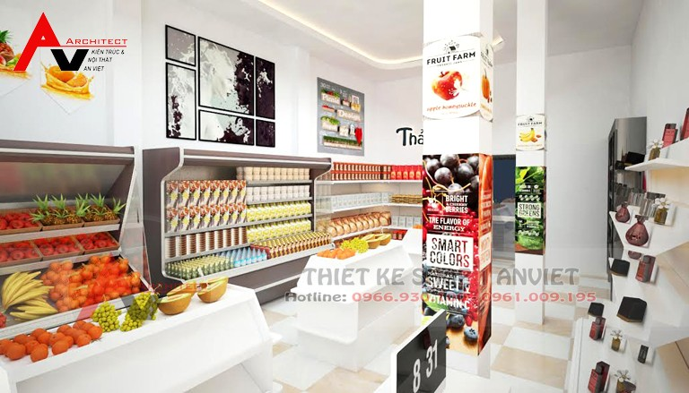 Mẫu thiết kế cửa hàng bán rau sạch 20m2 tại Vĩnh Phúc