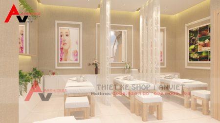 Trang trí spa tại nhà đẹp với không gian hiện đại tại Hưng Yên