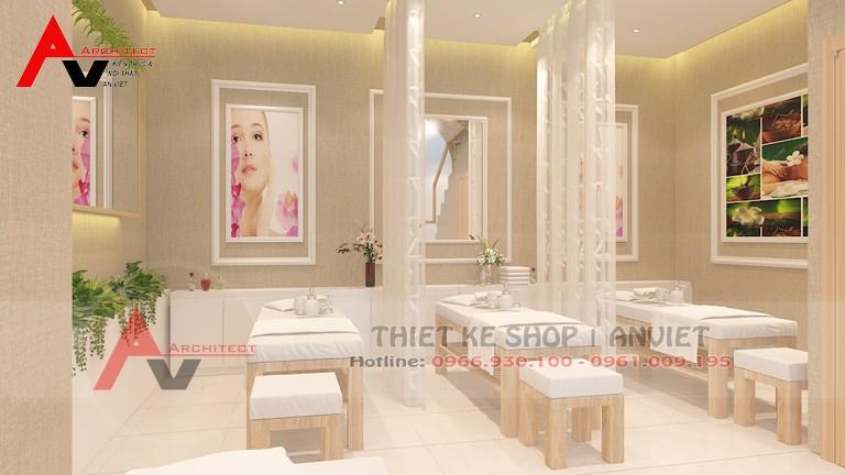 Thiết kế phòng spa tại nhà theo phong cách hiện đại tại Hưng Yên