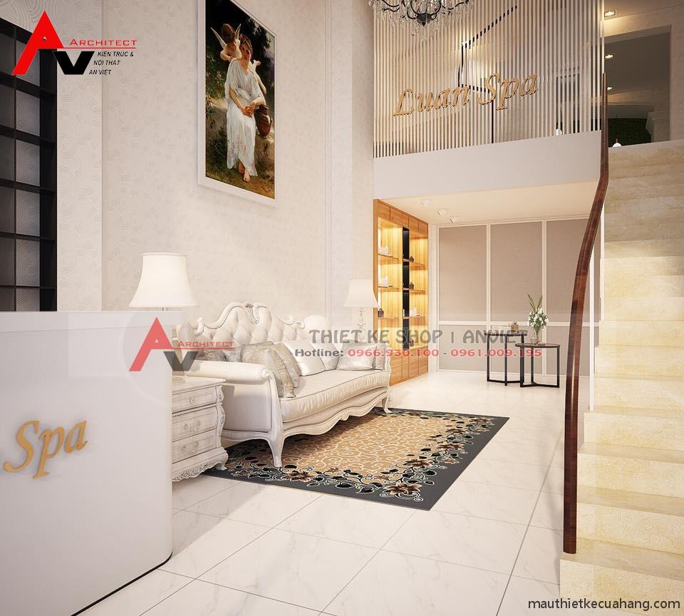 Cải tạo không gian nội thất spa 30m2 tại Hoàng Mai, Hà Nội