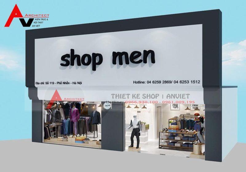 Mẫu thiết kế cửa hàng thời trang nam tại Phố Nhổn Hà Nội