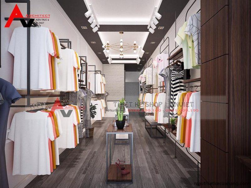 Mẫu thiết kế shop quần áo nữ 30m2 tại Hà Nội
