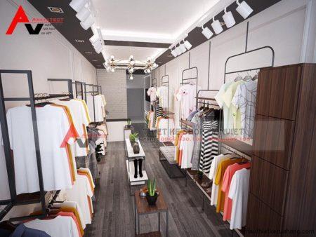 Mẫu thiết kế shop quần áo nữ ĐẸP ĐƠN GIẢN 30m2 tại Hà Nội
