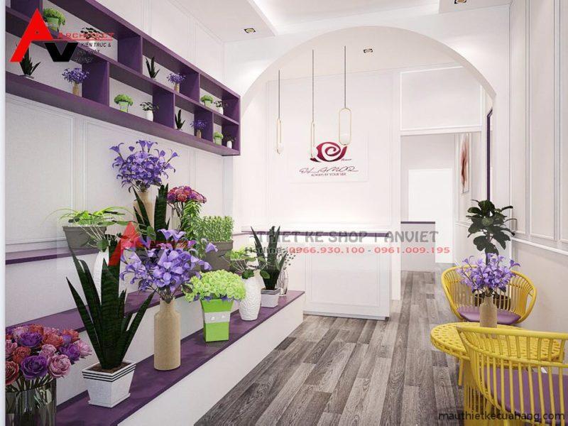 Thiết kế cửa hàng hoa tươi Tea Flower 20m2 tại Hà Nội