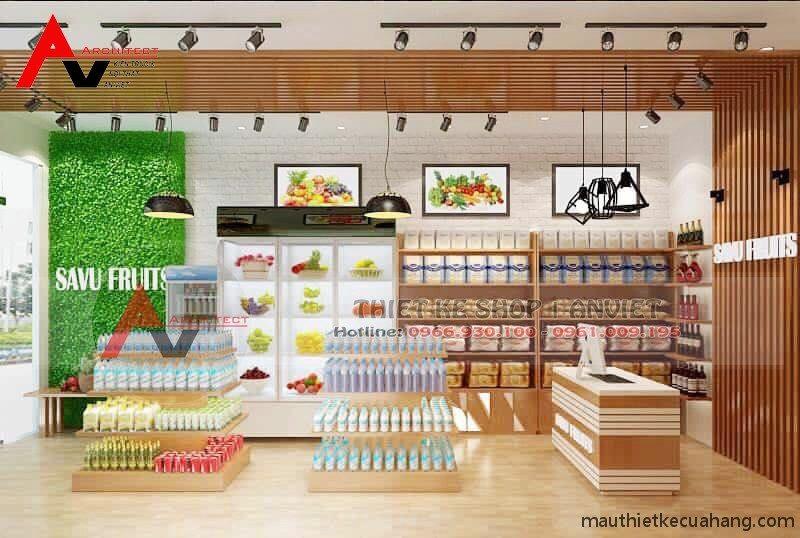 Thiết kế cửa hàng thực phẩm sạch 25m2 tại Từ Sơn Bắc Ninh