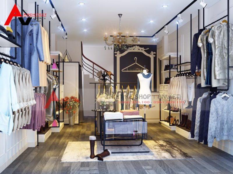 Thiết kế shop 30m2 thời trang quần áo nữ phong cách Vintage