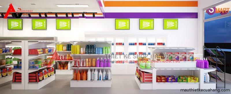 Trang trí nội thất siêu thị tiện ích Smark 40m2 tại Bắc Ninh