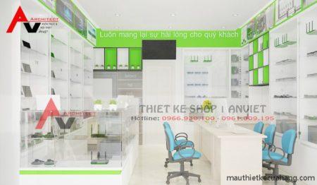 Thiết kế shop phụ kiện máy tính laptop 20m2 ở Hà Nội
