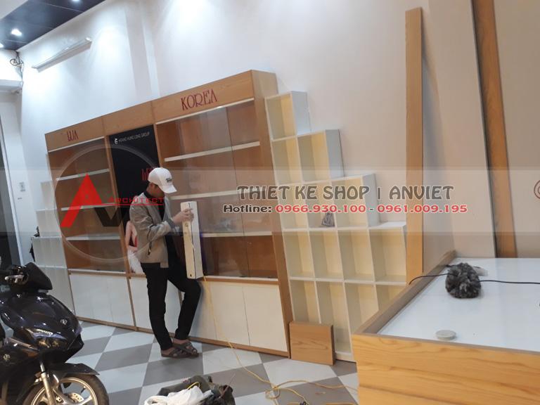 thiet ke thi cong shop my pham tai phu tho