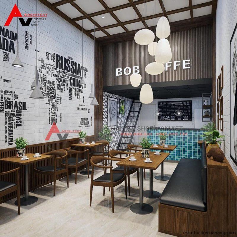 Mẫu quán cà phê nhỏ đẹp 35m2 tại HN tạo ẤN TƯỢNG NỔI BẬT