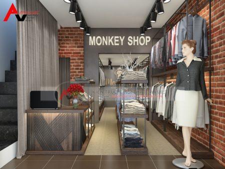 Mẫu thiết kế shop thời trang nam hiện đại 40m2 tại Thanh Hóa