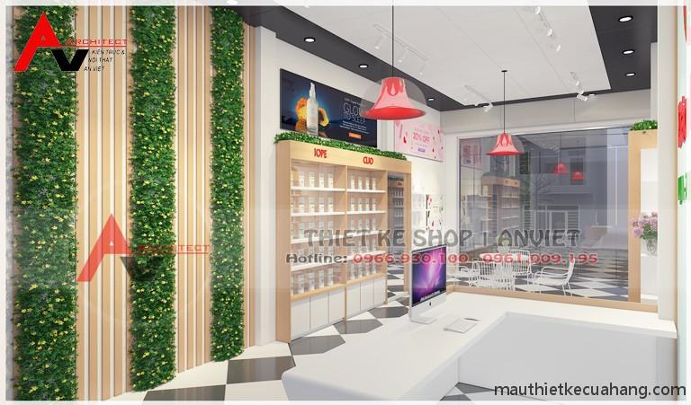 Thiết kế cửa hàng bán mỹ phẩm nhỏ 30m2 tại Phú Thọ