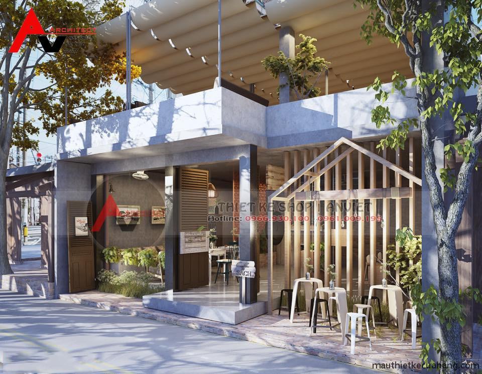 Thiết kế quán cafe 50m2 ĐẸP VẠN NGƯỜI MÊ tại Quảng Ninh
