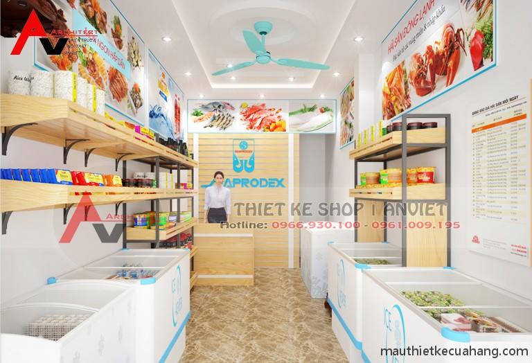 Ảnh 01 thiết kế cửa hàng thực phẩm sạch nhỏ 20m2 tại thanh xuan ha noi