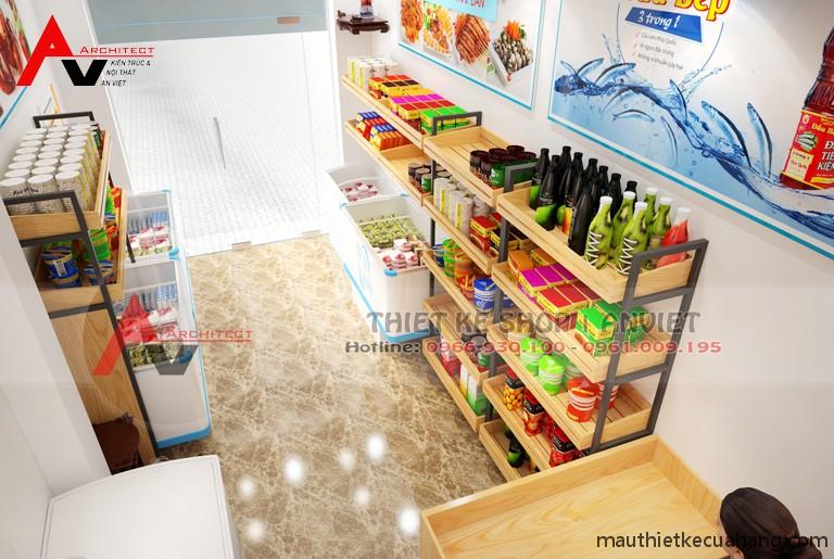 Ảnh 03 thiết kế cửa hàng thực phẩm sạch nhỏ 20m2 tại thanh xuan ha noi