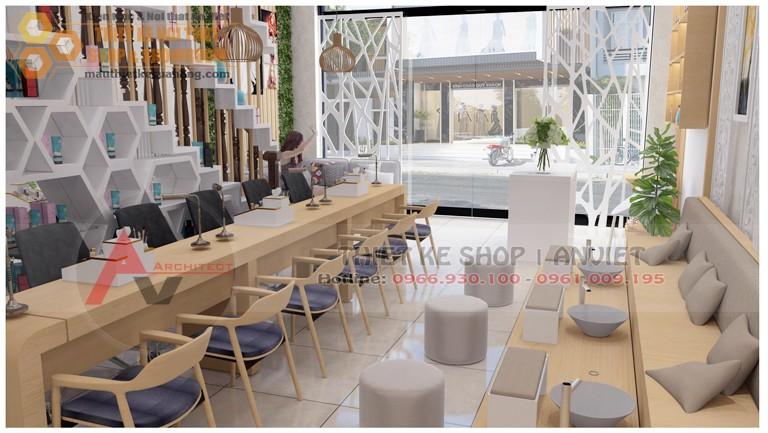 Thiết kế thi công tiệm nail spa 40m2 Từ Liêm Hà Nội