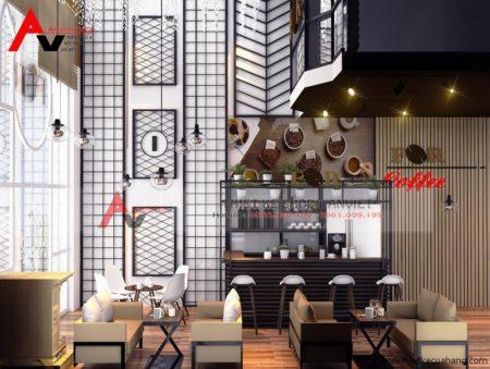 Thiết kế quán cafe KHÔNG GIAN ĐẸP 70M2 ở Thái Bình