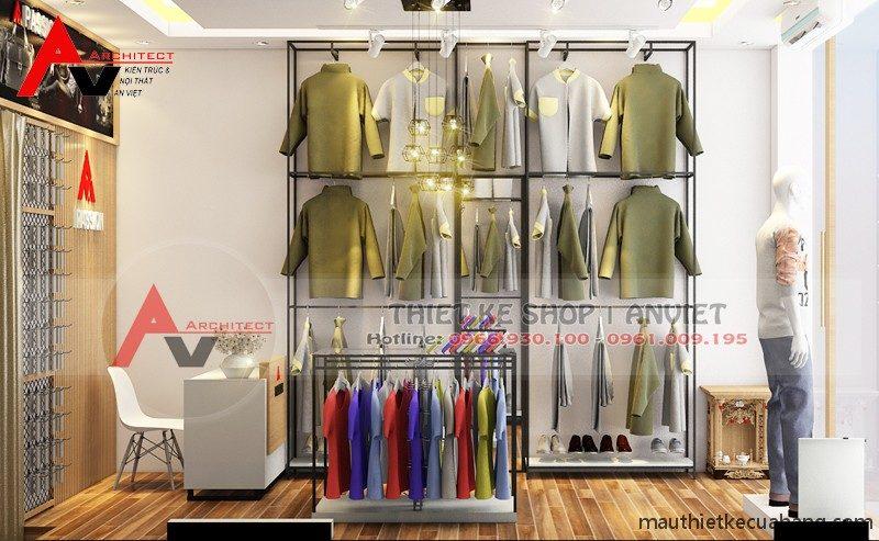 Thiết kế shop quần áo nam nhỏ giá rẻ 20m2 tại Hà Nội