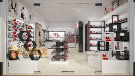 Trang trí hoàn hiện nội thất shop giày dép tại hà nội 50m2