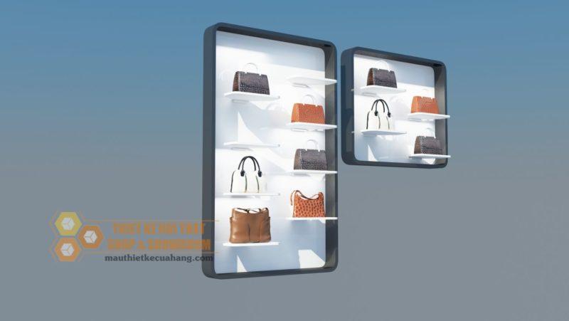 Ảnh thiết kế tủ trưng bày túi xách