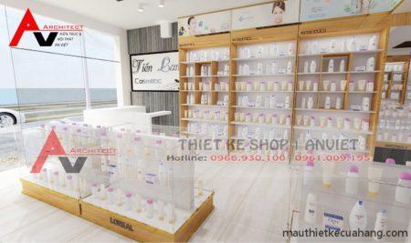 Trang trí shop mỹ phẩm đẹp 80m2 GÂY ẤN TƯỢNG ở Hải Dương
