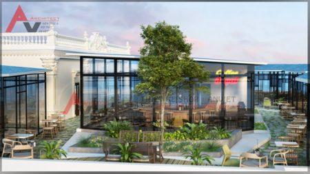 Công trình thiết kế quán cafe sân vườn ĐẸP VÀ ẤN TƯỢNG