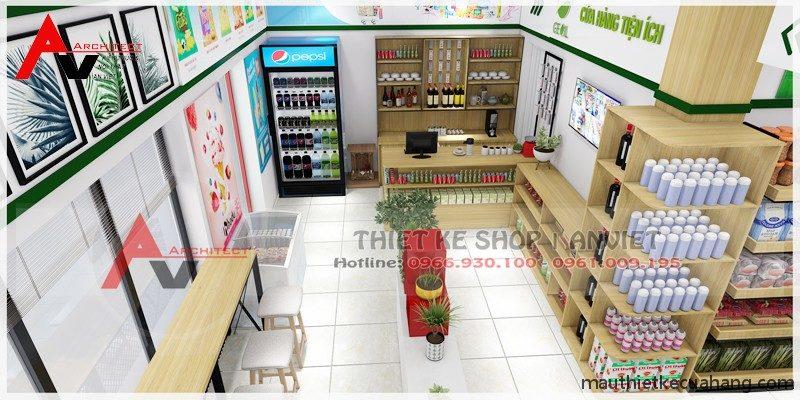 Mẫu thiết kế siêu thị mini với chi phí vừa phải 40m2 tại Thanh Hóa