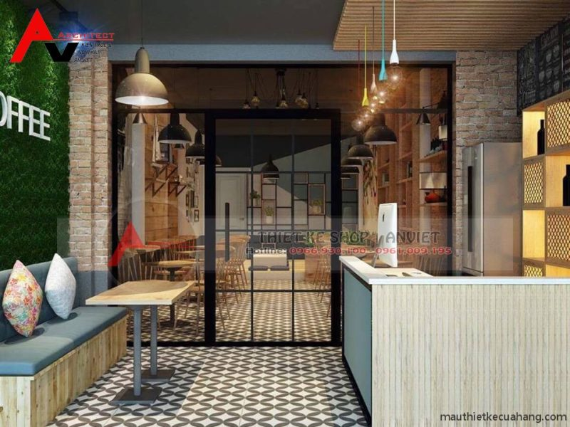 Thiết kế quán cafe 60m2 nhỏ mà vẫn đẹp hút hồn khách hàng ở Phú Thọ